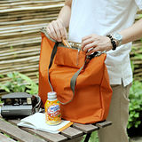 M Square 大拉鏈購物袋-糖果橙