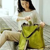 M Square 大拉鏈購物袋-芥未綠