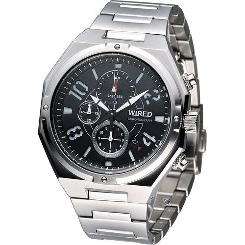 雅柏 ALBA WIRED 軍風 計時腕錶 7T92~X254D AF8R77X1