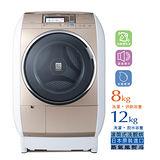日立12公斤滾筒洗衣機SFBD3800T/蒸氣/風熨斗/洗脫烘