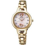 SEIKO VIVACE 甜心教主 電波太陽能腕錶(金/27mm) 3B51-0AR0K