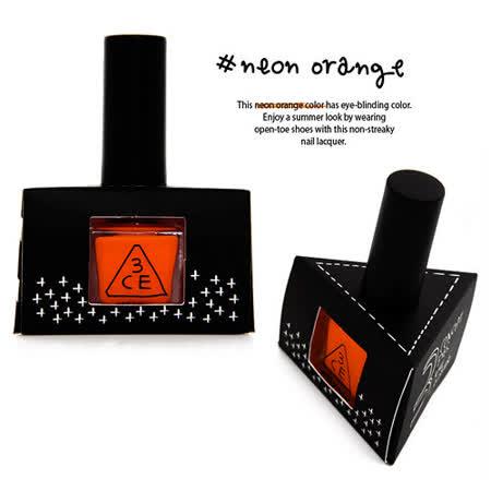 【即期品】韓國 3CE 螢光色指甲油 NEON NAIL (5ML) #NEON ORANGE(0002016072036)