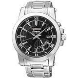SEIKO Premier 都會品味人動電能腕錶(黑/42mm) 5M84-0AA0D