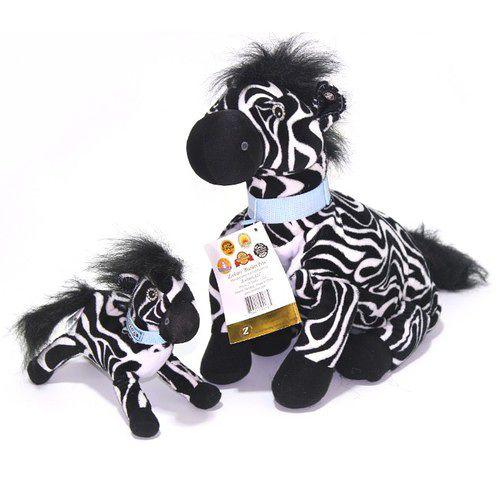 Zoobies 三合一毛毯寵物玩偶 -大小斑馬