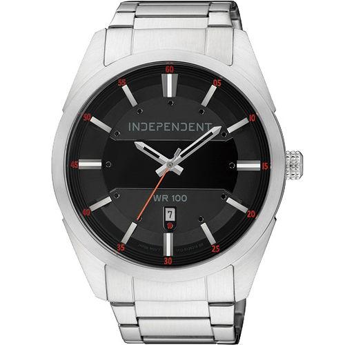 INDEPENDENT 神秘客 日期視窗腕錶^(黑44mm^) IB5~314~51