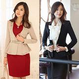 【韓系女衫】OL 秋冬荷葉邊設計短款小外套