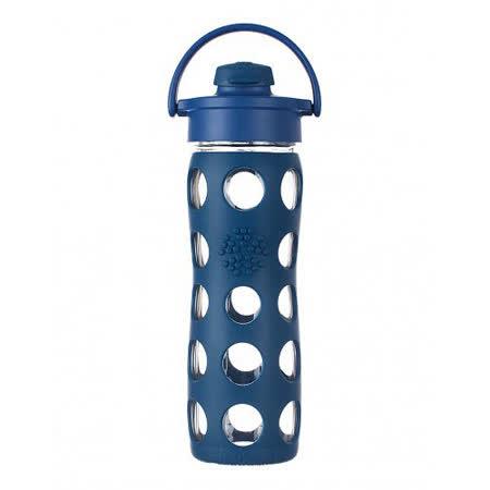 美國唯樂Lifefactory 彩色玻璃水瓶-吸嘴450ml深藍 LF224002