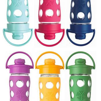 美國唯樂Lifefactory 彩色玻璃水瓶-吸嘴450ml桃紅 LF224000
