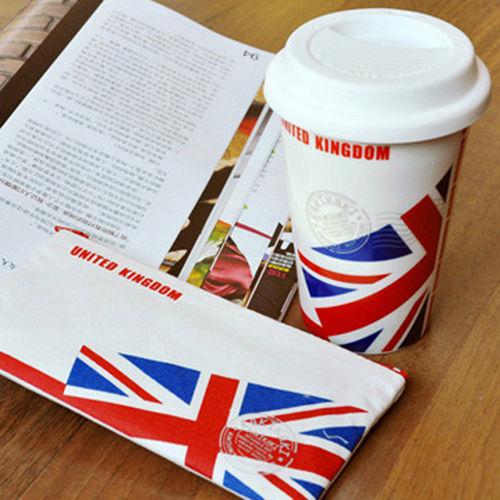 加贈!國旗收納袋 ^~kakikaki 英國 雙層陶瓷杯