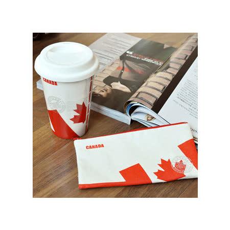 限時加贈!國旗收納袋 ~kakikaki 加拿大 雙層陶瓷杯