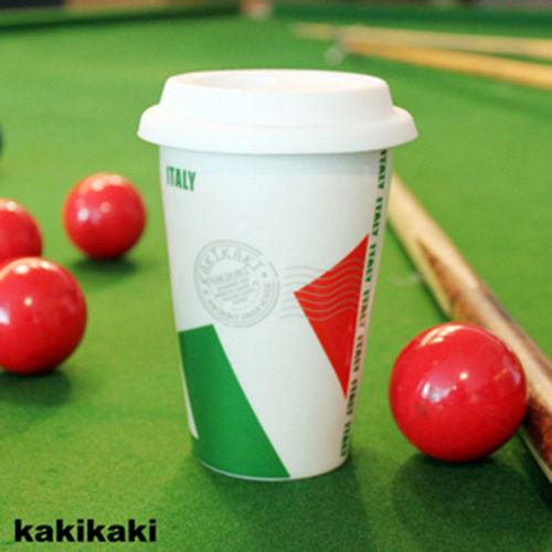 加贈!國旗收納袋 ^~kakikaki 義大利 雙層陶瓷杯