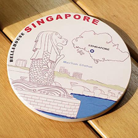 神奇吸水杯墊 ~ 新加坡 魚尾獅