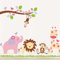 時尚壁貼 - 歡樂動物園