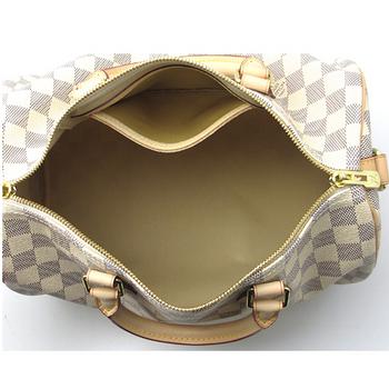 Louis Vuitton LV N41373 Speedy 30 白棋盤格紋附背帶手提包_預購
