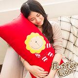 【奶油獅】正版授權-台灣製造-舒適輕柔造型長抱枕-紅