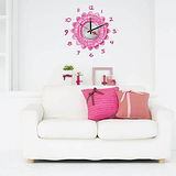 創意趣味DIY  壁貼掛鐘 (粉紅鐘)