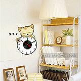 創意趣味DIY  壁貼掛鐘 (可愛貓鐘)