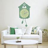 創意趣味DIY  壁貼掛鐘 (歐式鐘錶-綠)