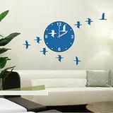 創意趣味DIY  壁貼掛鐘 (鳥兒飛翔)
