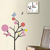 創意趣味DIY  壁貼掛鐘 (鳥語花香)
