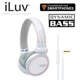 iLuv ReF 立體重低音帆布耳罩式耳機-麥克風免持功能(iHP636) 白