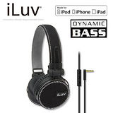 iLuv ReF for Apple 立體重低音帆布造型耳罩式耳機-麥克風免持功能(iHP635) 黑