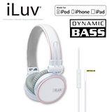 iLuv ReF for Apple 立體重低音帆布造型耳罩式耳機-麥克風免持功能(iHP635) 白