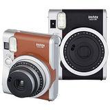 FUJIFILM Instax mini 90 拍立得相機(恆昶公司貨)-加碼送阿甘軟片+FUJI 小相本+底片保護套(20張)