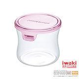 【iwaki】玻璃微波罐 240ml(圓型粉)