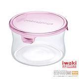 【iwaki】玻璃微波罐 380ml(圓型粉)