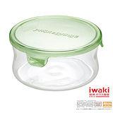 【iwaki】玻璃微波罐 380ml(圓型綠)