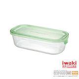 【iwaki】玻璃微波盒 500ml(綠長方款)