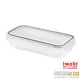 【iwaki】扣式耐熱玻璃微波盒 850ml(棕)
