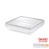 【iwaki】扣式耐熱玻璃微波盒 2L(棕)