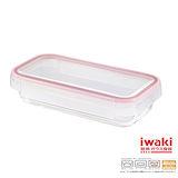 【iwaki】扣式耐熱玻璃微波盒 850ml(紅)