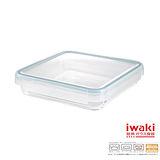 【iwaki】扣式耐熱玻璃微波盒 2L(藍)