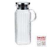 【iwaki】耐熱玻璃水壺 1L(手柄方型款)