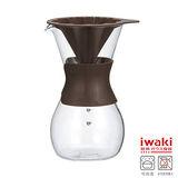 【iwaki】花形滴漏咖啡壺 600ml(棕)
