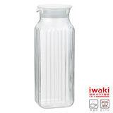 【iwaki】方形耐熱玻璃冷水壺 1L(白)