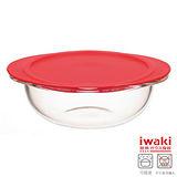 【iwaki】玻璃微波碗 1.1L(紅)