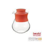 【iwaki】玻璃微波調味瓶 240ml(時尚紅)