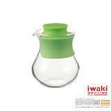 【iwaki】玻璃微波調味瓶 240ml(鮮草綠)
