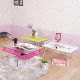 粉漾強化玻璃折疊和室桌(3色)