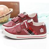 【童鞋城堡】Admiral專櫃紅色經典帆布鞋{台灣製造}KISD0901-03