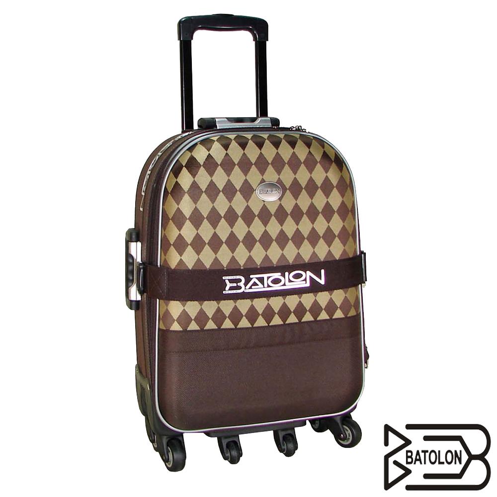【BATOLON寶龍】21吋-經典菱格旅行箱愛 買 復興 店/拉桿箱/行李箱