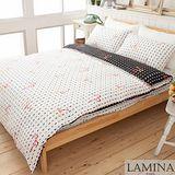 【LAMINA】秘密-告白-雙人加大四件式精梳純棉床包被套組
