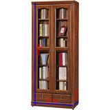 顛覆設計 傑里米 樟木色2.7*6.8尺中抽書櫃