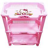 Hello Kitty時尚小方形三層置物架KT-0113(約40x53x20.6cm)