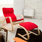 【日安家居】Marco馬爾可渡假風休閒搖椅+腳凳(共3色)