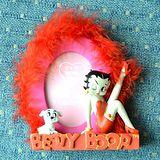 【isFun】貝蒂Betty*艷紅羽毛造型相框